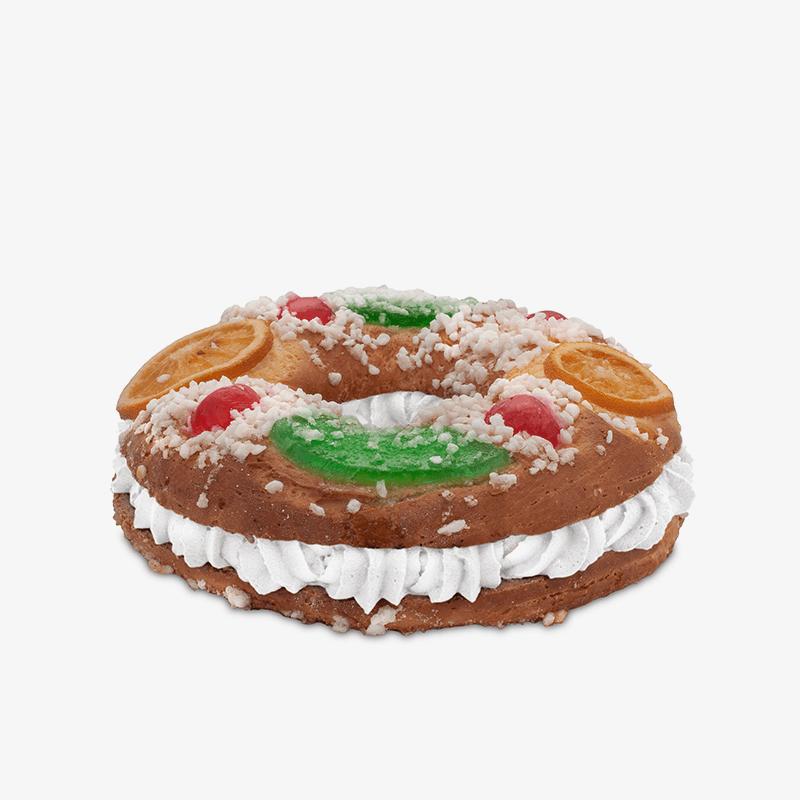 Roscón de reyes de nata sin gluten