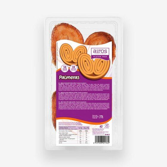Packaging de 2 palmeras sin gluten Airos