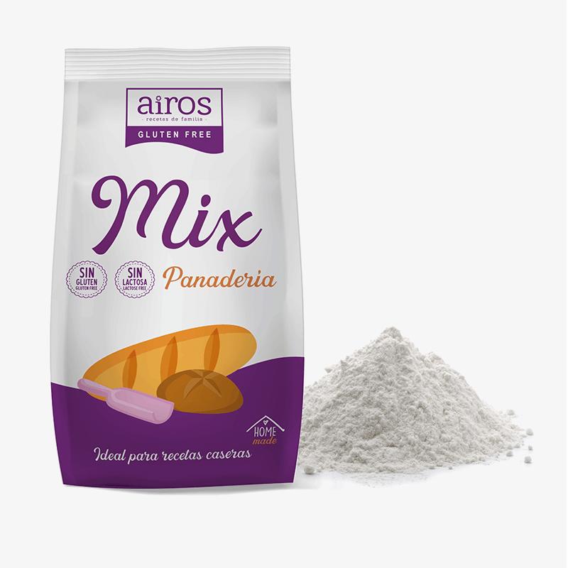 Mix Panadería sin gluten y sin lactosa Airos