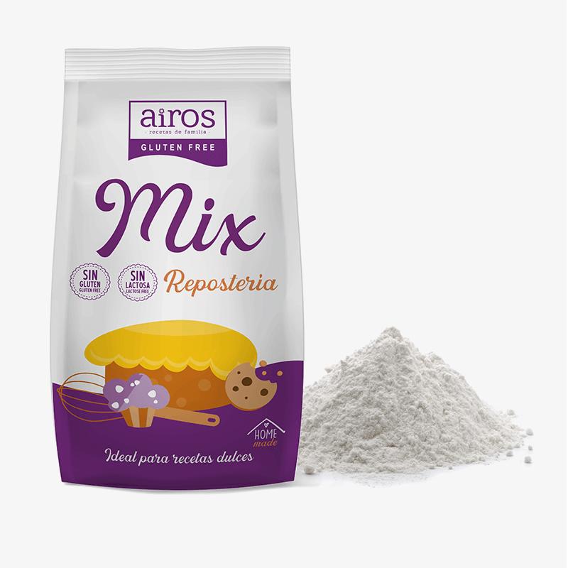 Mix de Repostería sin gluten y sin lactosa Airos