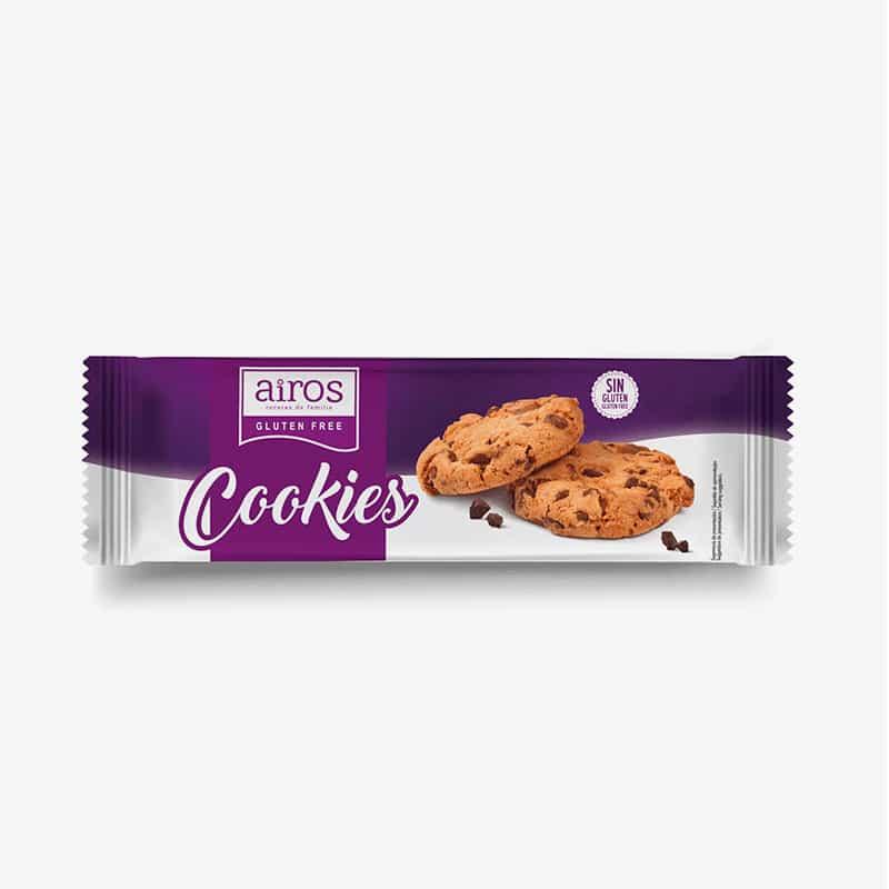 Envase Airos de cookies sin gluten