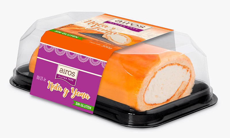 Pastelería sin gluten para Food Service en envase de plástico