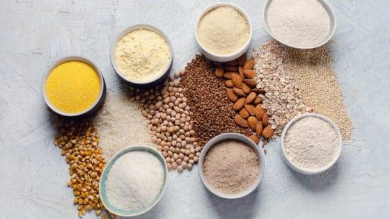 Usos de las diferentes harinas sin gluten