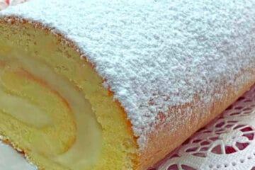 Brazo de gitano sin gluten relleno de crema