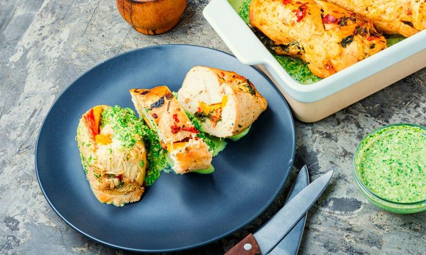 Receta sin gluten de rollitos de pollo al vapor