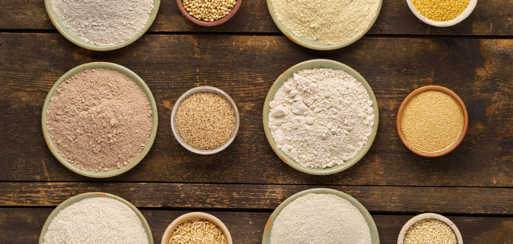 Cereales sin gluten y cereales con gluten