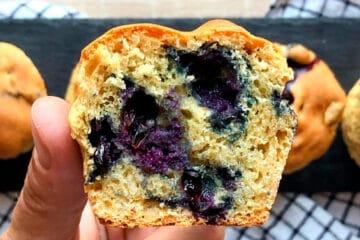 Receta de muffins de arándanos sin gluten